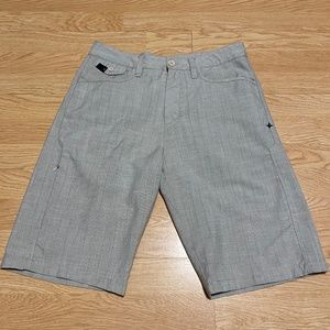 Hurley Shorts Cream / Grey Stripe Mens Size 30